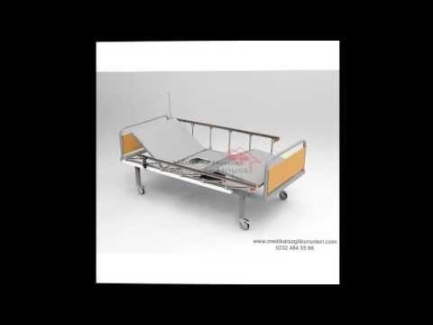 2 Motorlu Kumandalı Lazımlıklı Hasta Karyolası-Yatağı