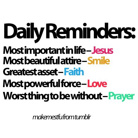 Daily Reminders: