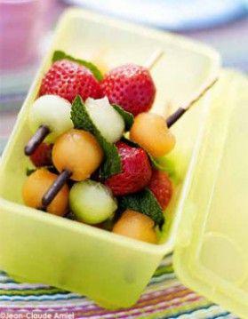 Brochettes croustillantes aux fruits d'été