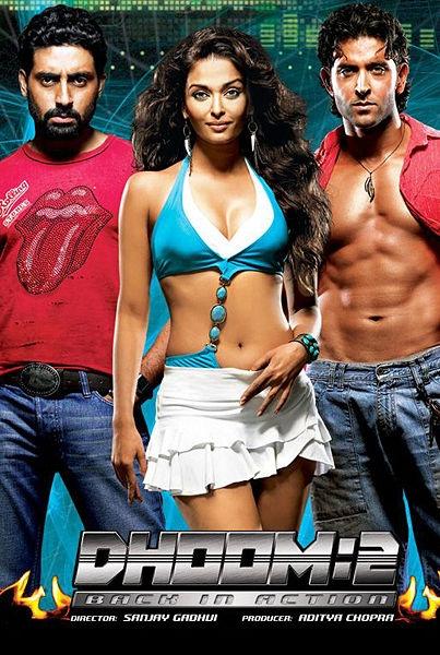 DHOOM 2... Abhishek Bachan, Aishwarya Rai, Hrithik Roshan