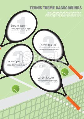 Tennis Theme Backgrounds - Illustration