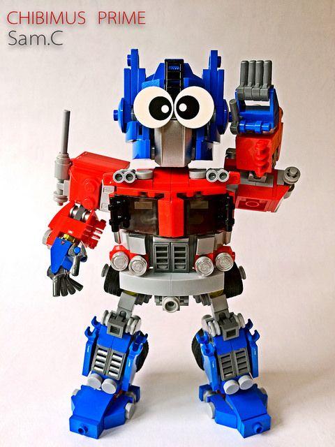 LEGO Transformers: Chibimus Prime- Chibi Eyes #Lego #Mocs #Transformers #OptimusPrime #LegoIdeas
