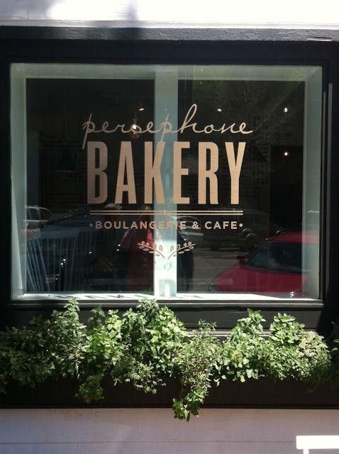 Persephone Bakery signage