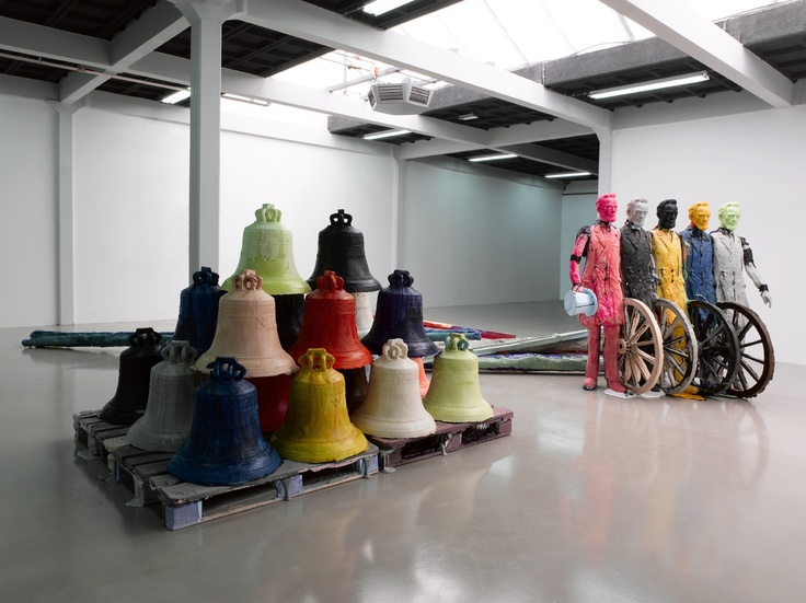 Folkert de Jong Infinite Silence; The Way Things Are and How They Became Things Styrofoam, pigmented polyurethane foam 2009 cm. 190x800x500