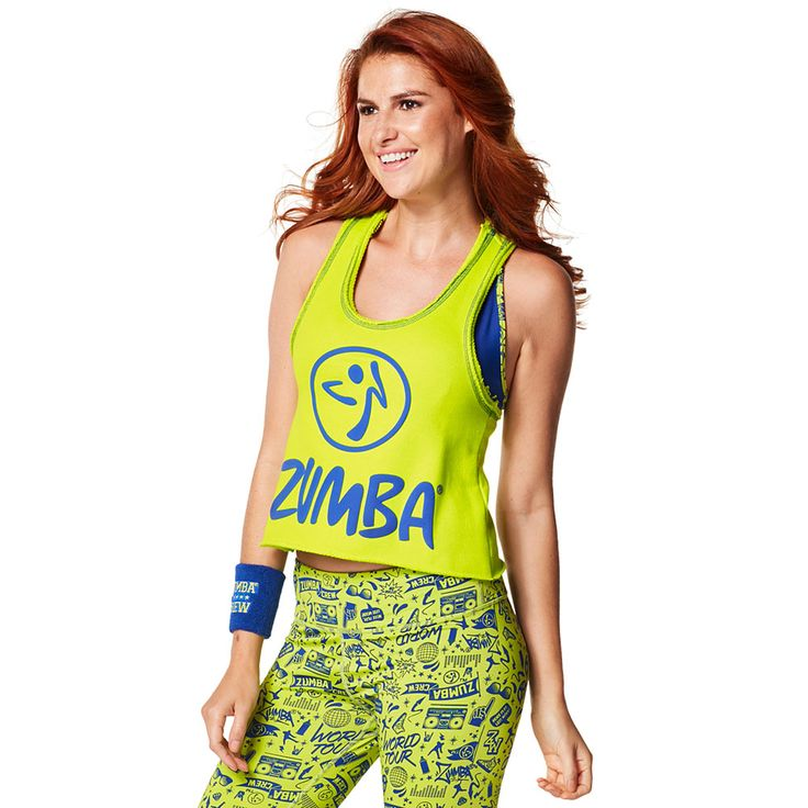GET LOOSE IN THE CITY CROP TOP - ZUMBA GREEN -------------- Take a break from the grind in the Get Loose in the City Crop Top.  Featuring a soft French Terry fabric and slightly cropped silhouette, this top is a total showstopper. Zumba Tank.