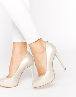 Enlarge Faith Cadles Oyster Patent High Heeled Pumps