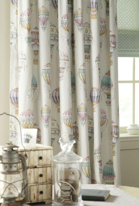 Hot air balloon Iliv fabric for curtains
