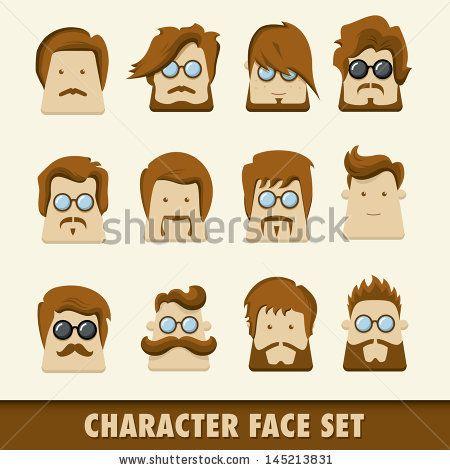 Men character icon set. Vector illustration by Kovacs Tamas, via Shutterstock