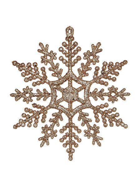 Set of 12 Gold Snowflakes