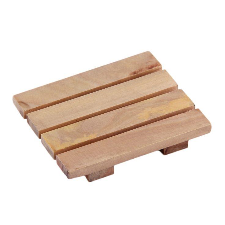 Wood Wooden Soap Dish Storage Tray Holder Bath Shower Plate Bathroom NEW Worldwide Store