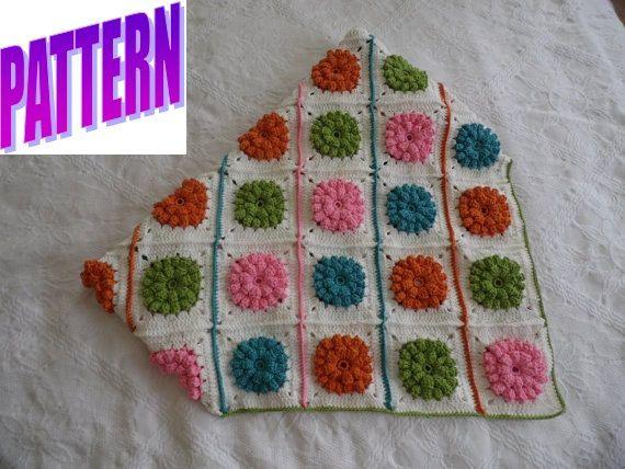 Crochet Baby Blanket Flowers Soft Blanket Fluffy