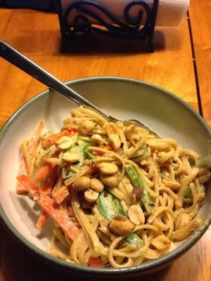 Noodles and Peanut Sauce (S)