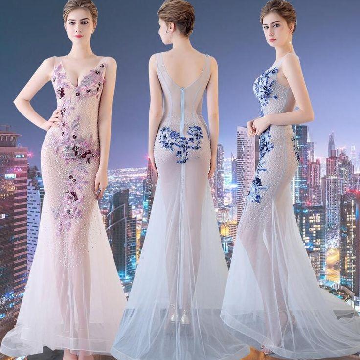 Brand New Frikocann Sequines Long Floor Length Gown