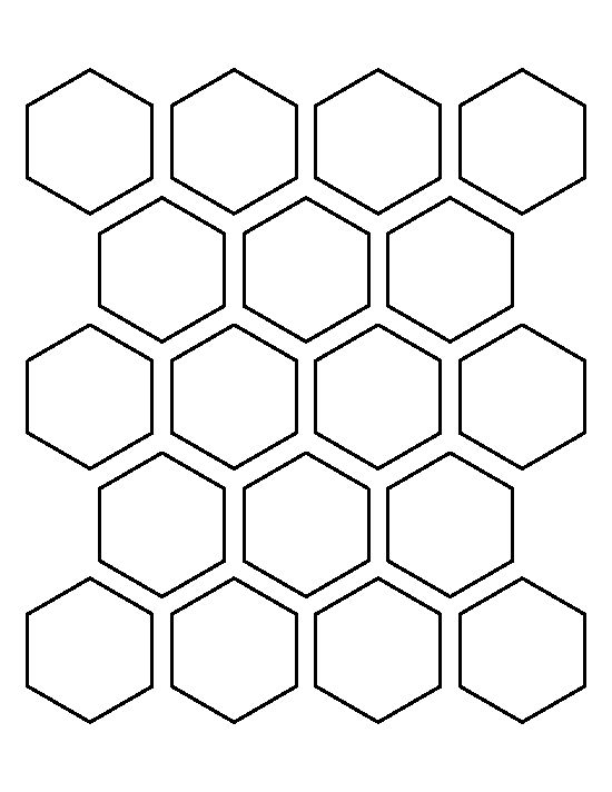 2 inch hexagon pattern. Use the printable outline for crafts ...