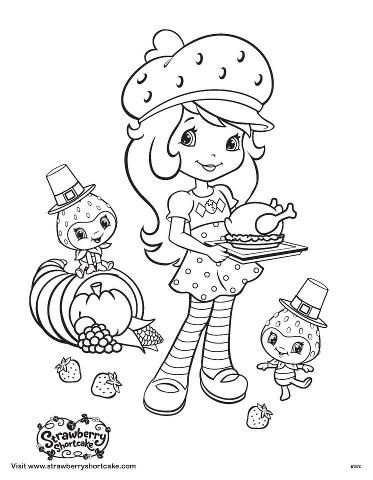 Strawberrry Shortcake Coloring Pages