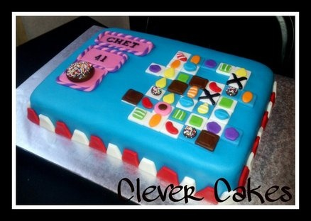 Candy Crush Saga Cake