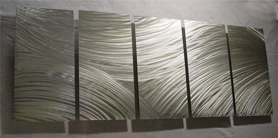 FLOW / Abstract Painting a Metal Wall Art Sculpture by Nider the Internationally Acclaimed Artist of Contemporary Decor $235