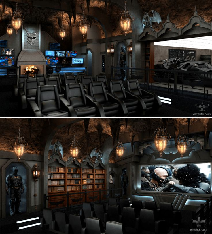 15 Awesome Basement Home Theater Cinema Room Ideas: 25+ Best Ideas About Batman Man Cave On Pinterest