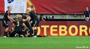 Deutsche Frauen-Nationalmannschaft im Finale der Europameisterschaft
