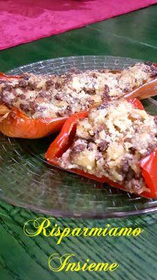 Risparmiamo Insieme - Let's save together: Peperoni ripieni di carne vegetariana e funghi