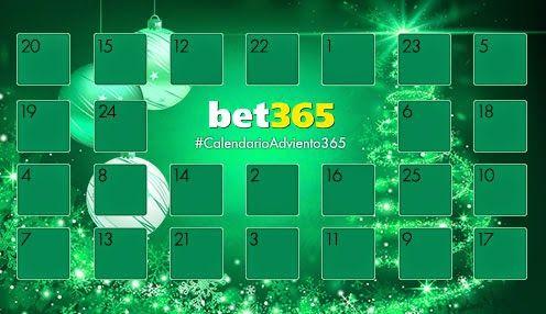bet365 bono 5 euros gratis calendario navidad 1-25 diciembre