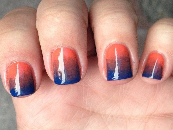 Orange to Blue Gradient~BRONCOS!!
