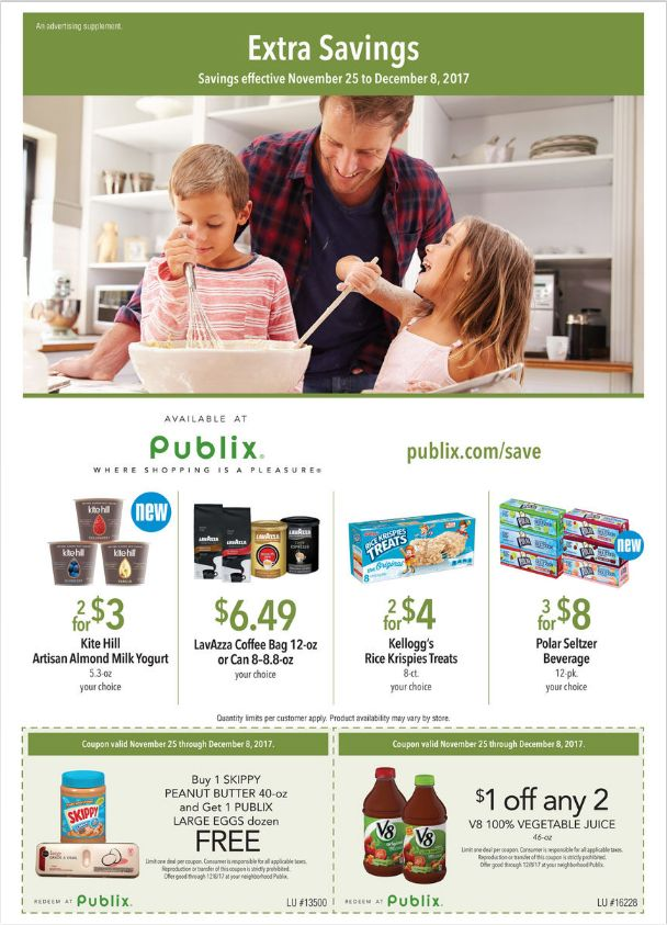 Publix Extra Savings November 25 - December 8, 2017 - http://www.olcatalog.com/grocery/publix-extra-savings.html