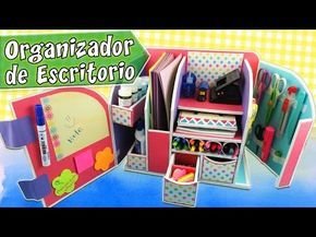 Organizador de escritorio en cartón | Manualidades