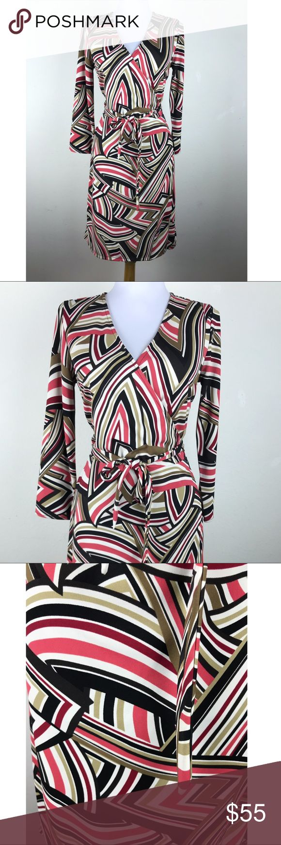 I just added this listing on Poshmark: Ann Taylor Loft Wrap Dress Size 6 Chevron Swirled. #shopmycloset #poshmark #fashion #shopping #style #forsale #Ann Taylor Loft #Dresses & Skirts