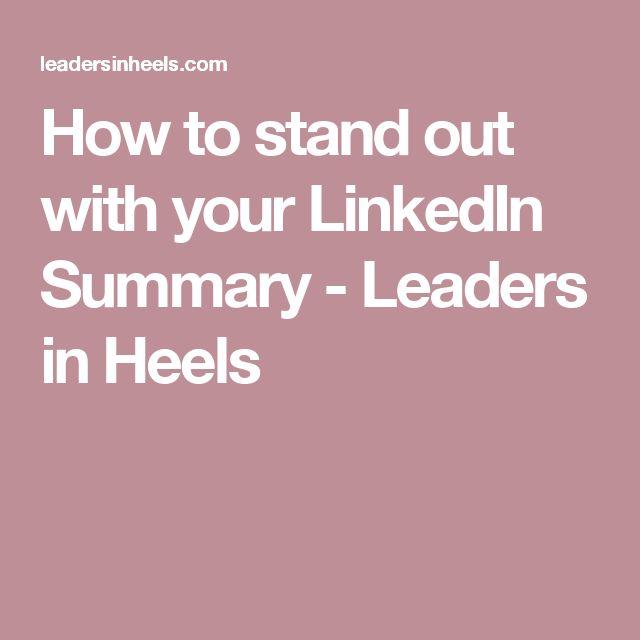 Best 25+ Linkedin summary ideas on Pinterest Accounting - linkedin resume tips