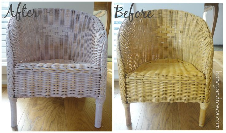 Painting a Wicker Chair with Chalk Paint