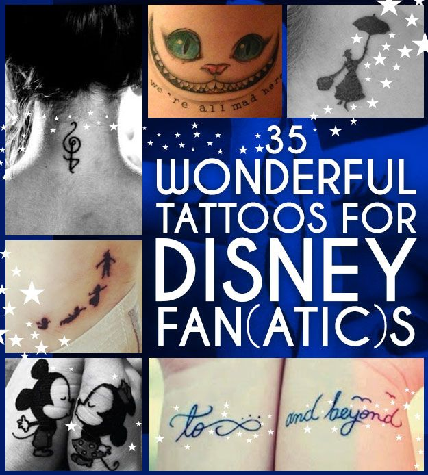 35 Wonderful Tattoos For Disney Fan(atic)s Wow I haven't seen some of these! Very nice!