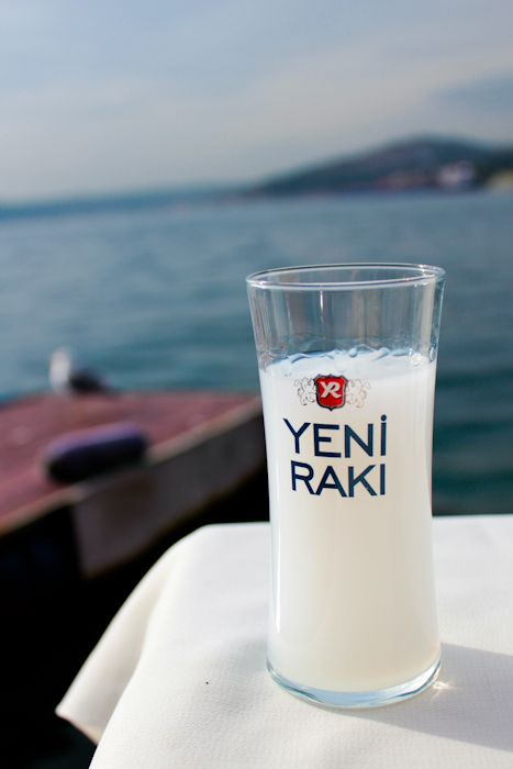 Many people think that people in Turkey don't drink alcohol but actually, Raki is a famous drink and it is a tradition to drink Raki during parties with fish, melon and cheese.