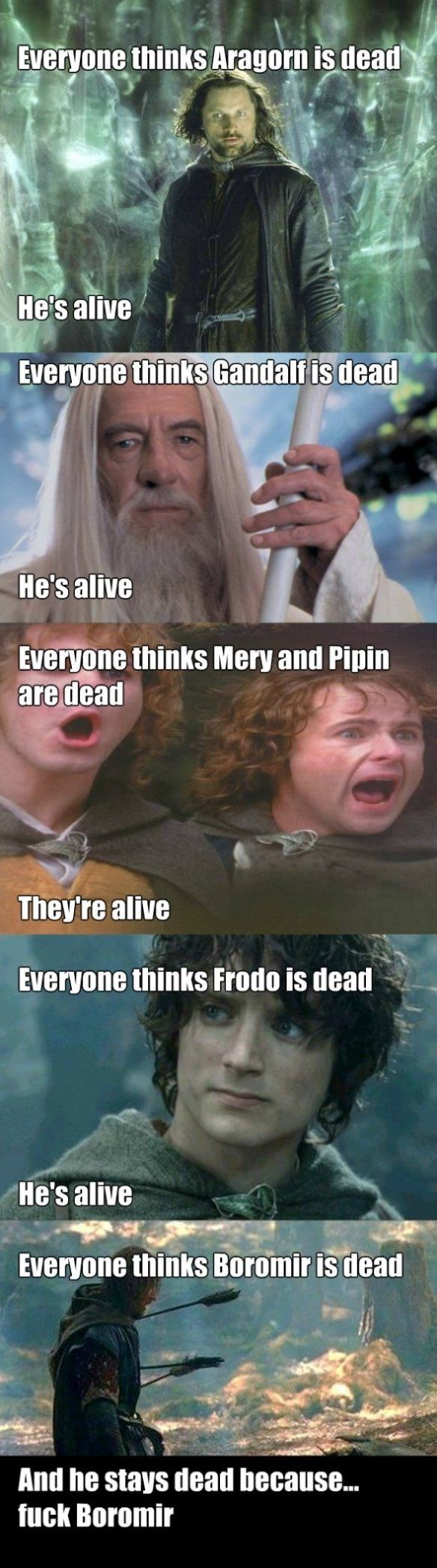 Because he was destined to be played by Sean Bean. And he must die in his roles. It's in his contract.