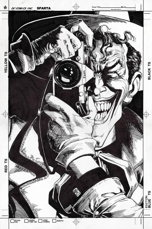 Batman The Killing Joke (1988) Cover Brian Bolland Recreation, in Jovi Neri's Recreations Comic Art Gallery Room