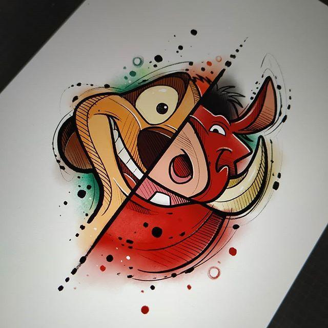 Timao Pumba Rei Leao Desenhos A Lapis Da Disney Desenhos