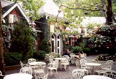 Tavern On The Green, NYC....    Some movies that have been filmed at Tavern on the Green include Ghostbusters, Arthur, Crimes and Misdemeanors,The Out-of-Towners and Mr. Popper's Penguins. :)