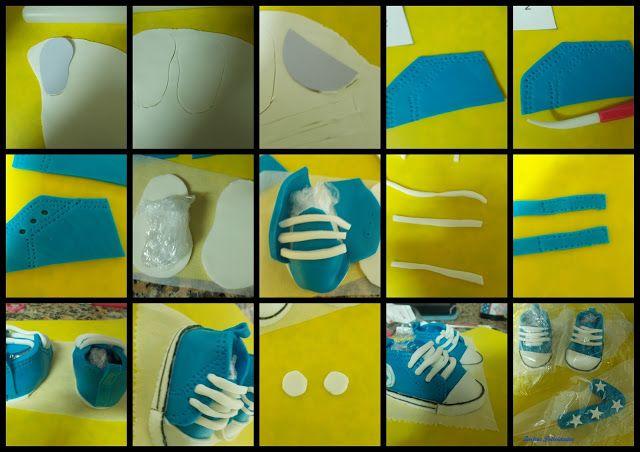 Dulces felicidades: Cómo modelar unas zapatillas tipo Converse de bebé en fondant