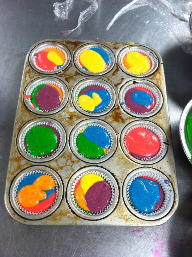How to make tie-dyed cupcakes for kids birthday parties - thingskidswant.com