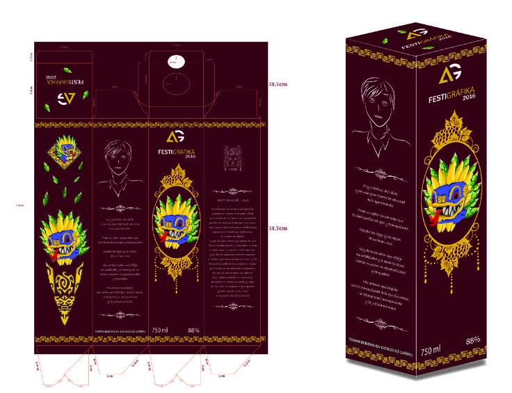 Trabajo de Empaque de Vino personalizado, desplegado y propuesta final