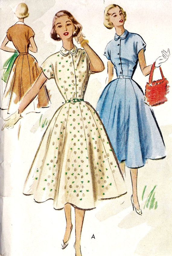 1950s Misses Shirtwaist Dress Vintage Sewing by MissBettysAttic