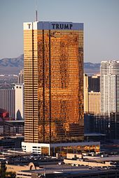 Trump Hotel Las Vegas with exterior windows gilded with 24carat gold. Donald Trump - Wikipedia, the free encyclopedia #ARCHITECTURE