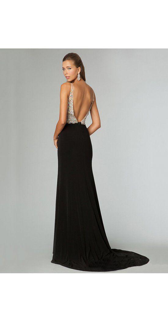 Lange schwarze kleider ruckenfrei
