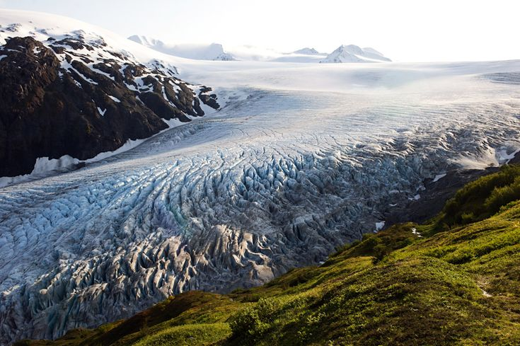 Exit Glacier in Seward, Alaska  #America
