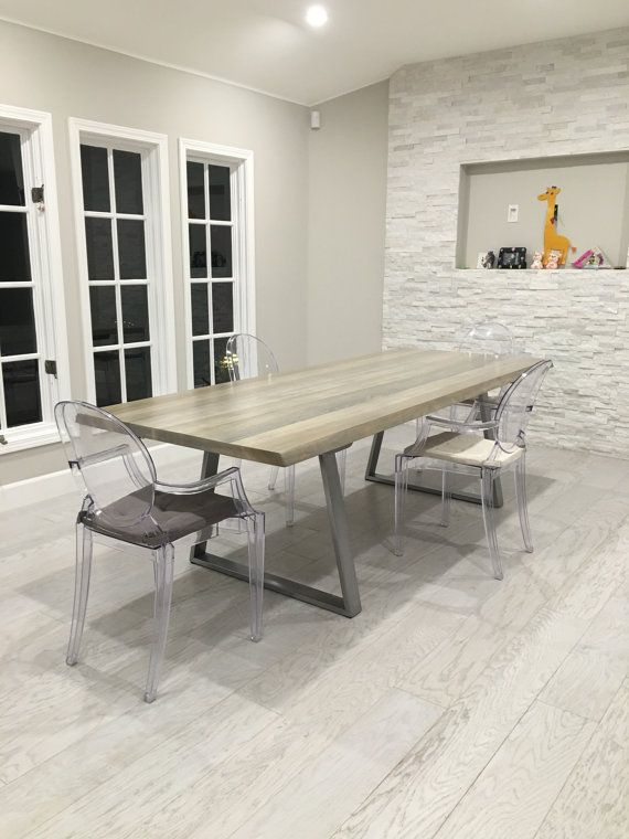 Poplar Dining Table от ModernWoodStyleSF на Etsy