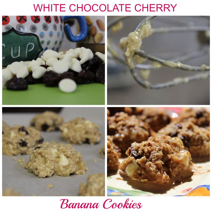 White Chocolate Cherry Banana Cookies! HEALTHY COOKIE ALERT! http ...