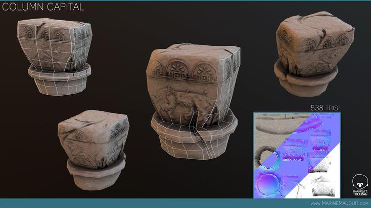 Column capital   Marine Mauduit   2D/3D Game Artist