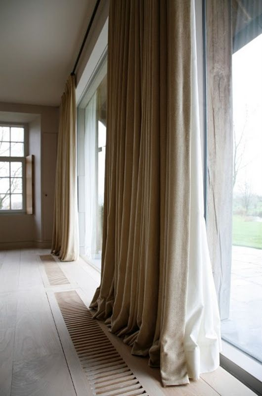 Simple linen curtain panels