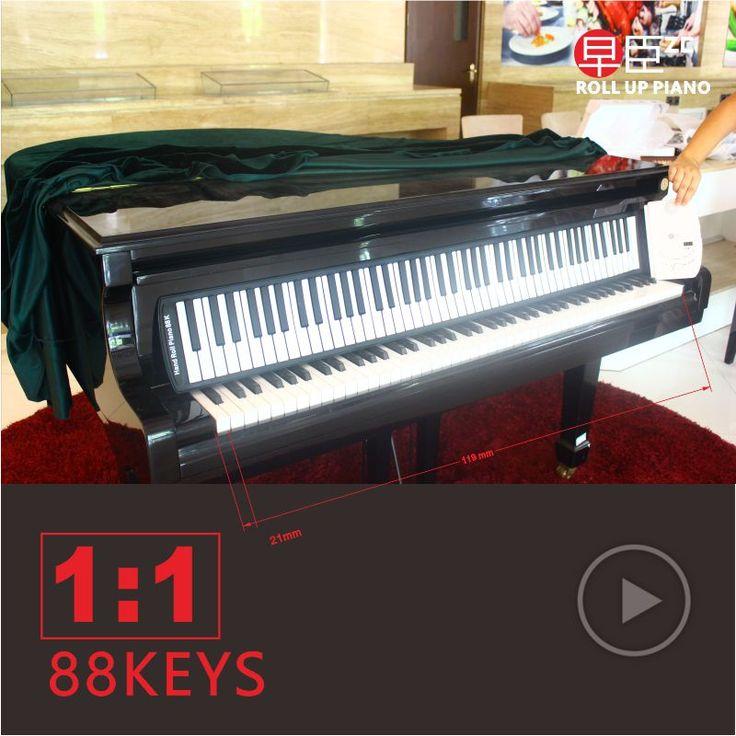 DHL Kapal 88 kunci profesional portabel silicone lembut keyboard midi tangan roll up piano keyboard elektronik Musik Instrumen