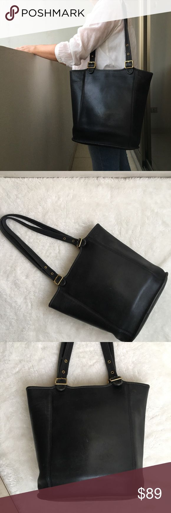 Coach Legacy Vintage Duffle Black Leather Bag Pre-owned authentic Coach Legacy Vintage Duffle Black Leather Bag. Please look at pictures for better reference. Happy Shopping! Coach Bags Totes